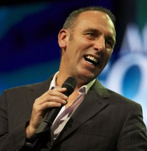 Pastor Brian Houston. Likes gold, affluence and boy toys. Prosperity gospel preacher.
