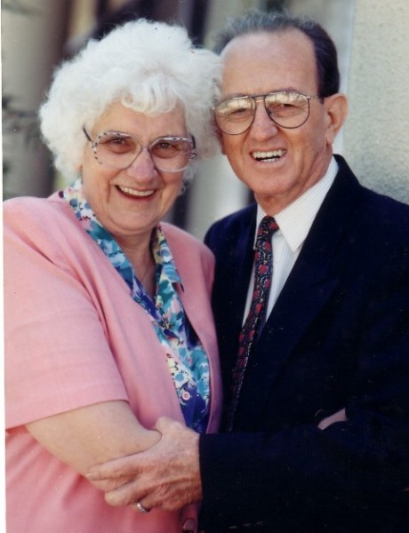 Pastor Frank Houston. Founder of Hillsong Church, with his long-suffering wife Hazel.