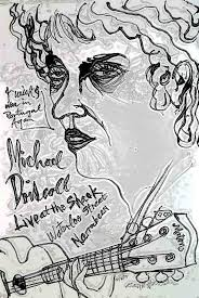 A sketch of Michael Driscoll by Brett Whitely for a gig, before Michael was a Christian,