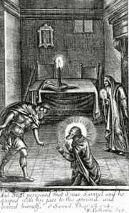Necromancy: Saul talking to Samuel. This wasn't Samuel but an angel of light, a demon, appearing in the form of Samuel. Samuel was summoned by a witch.