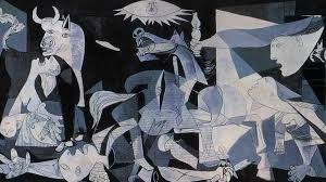 Picasso. Part of Guernica, the famous war protest painting which hangs in the Reina in Madrid.