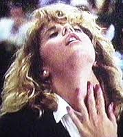 "Meg Ryan faking an orgasm in the cafeteria scene in ""When Harry mets Sally""."