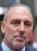 Pastor Brian Houston, the criminal pedophile Frank Houston's son. In denial.