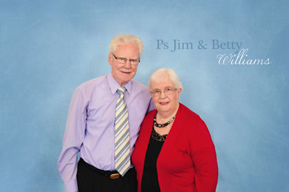 Pastor Jim Williams with his long-suffering wife
