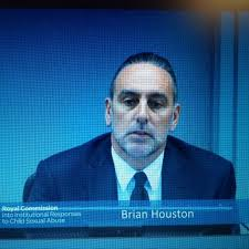 Brian Houston at the Australian Royal Commission. Has been recommended for pedophile protection charges in its findings of October 2015.