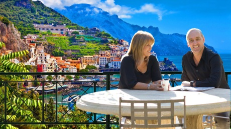 Bobbie: O Lordy. What a wonderful live here in South Italy on the Amalfi Coast. Brian: Yes. Just you and me at last. You're looking very beautiful even though you're now sixty one.