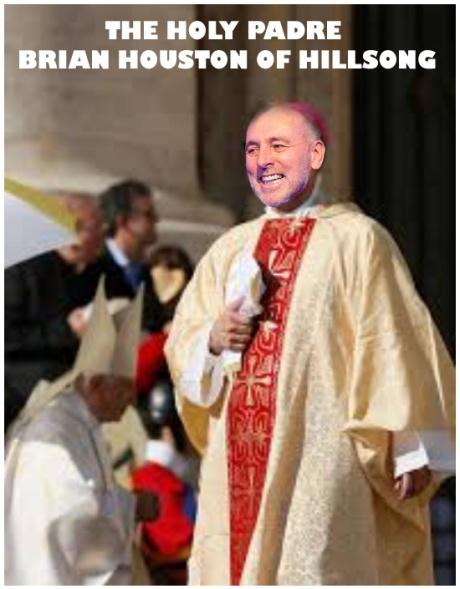 """Pastor"" Brian Houston of Hillsong Basilica Baulkham Hills Sydney Australia. In full cermonial attire"
