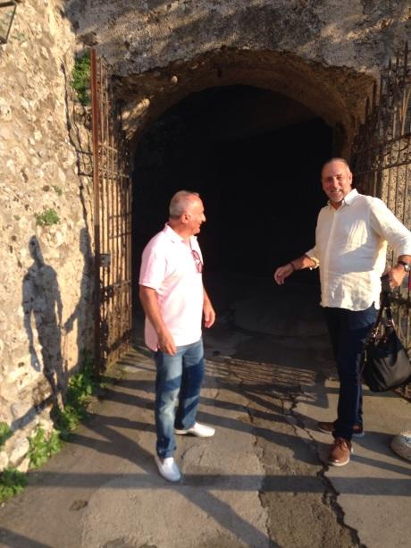 Pat Mesiti and Brian Houston. Close pals. On holiday at Positano on the Amalfi Coat September 2014
