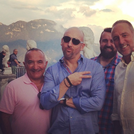 "On holiday in Positano South, Amalfi Coast, South Italy with ""Pastor"" Pasquale ""Pat"" Mesiti the wife bashing sex addict preacher and Brian's close friend. With Pasquale's Italian relatives."