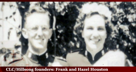 the lifelong secret Frank Houston founder of Hillsong with his wife Hazel, in his early disguise posing as a Salvation Army Captain in the 1940s.