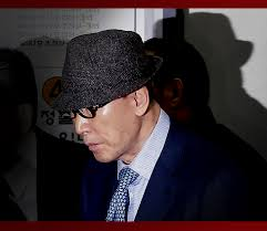 Yonghi Cho going to court. a very corrupt man who thought he was God and fell to earth like lucifer before him. In God's hands. Now in his 80s.