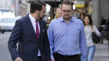 Dawid Volmer, or David Volmer, arriving at the Perth District Court with his defence lawyer Nick Scerri