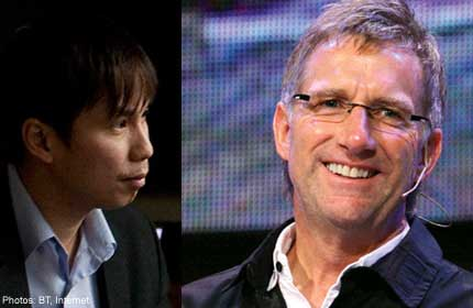 Left: CHC executive pastor Aries Zulkarnain. Right: Sydney-based Reverend Phil Pringle has always felt a great affinity with City Harvest Church founder Kong Hee and his wife, Ms Ho Yeow Sun.