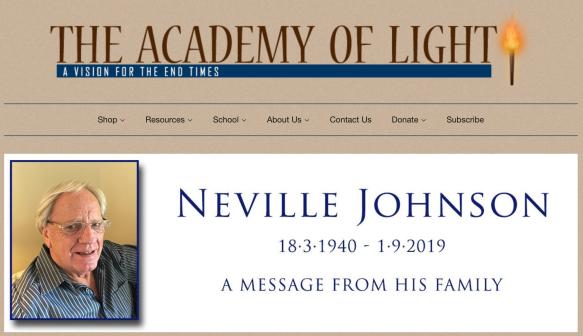 Pastor Neville Johnson  Academy of Light, Queensland  Liked